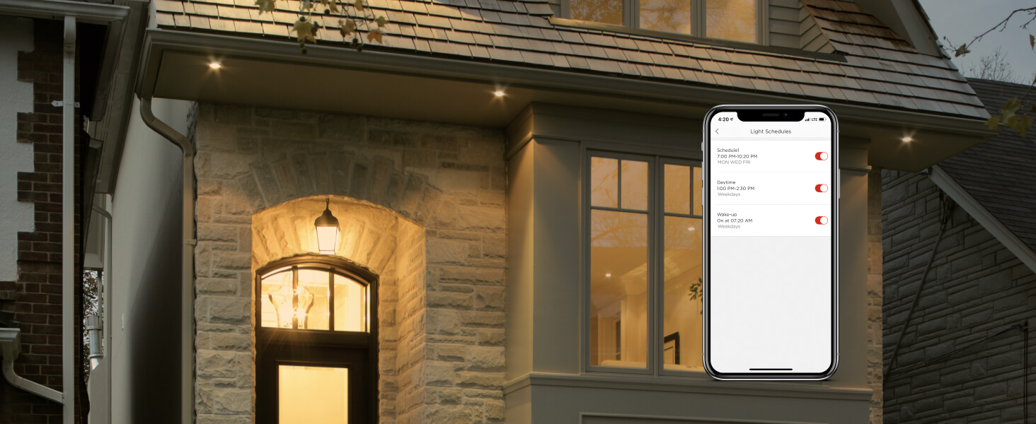 Use the Sengled Home app to create schedules and automate your lighting.