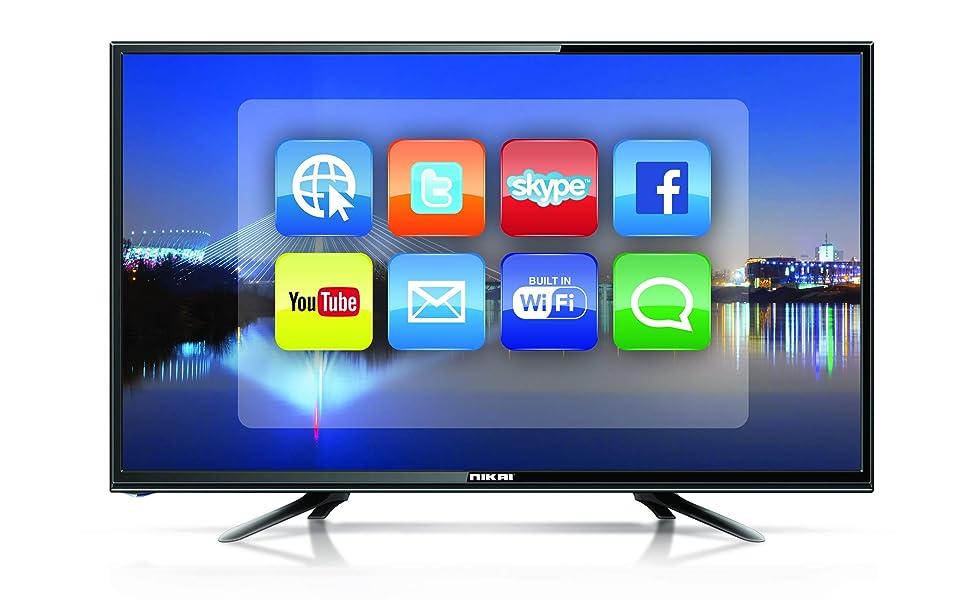 Nikai 32 Inch Smart HD LED TV, Black