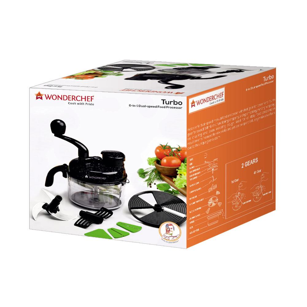 Buy wonderchef turbo dual speed food processor black online at low prices in india - Julienne blade food processor ...