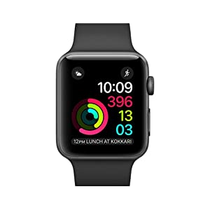 Apple Watch Series 2-42mm Space Gray Aluminum Case with Black Sport Band, OS 3 - MP062