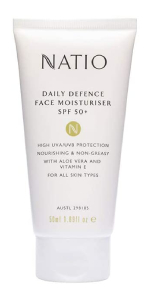 Natio Daily Defence Face Moisturiser SPF50+