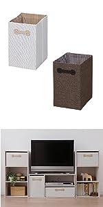 アイリスオーヤマ ボックス インナーボックス 幅22×奥行26.8×高さ33.6cm ブラウン FIB-M22