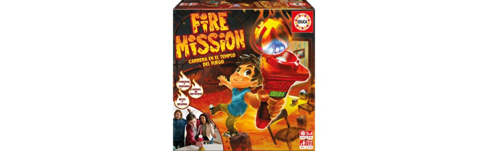 Educa Borrás- Juego de Mesa, Fire Mission (17441) , color/modelo surtido: Amazon.es: Juguetes y juegos