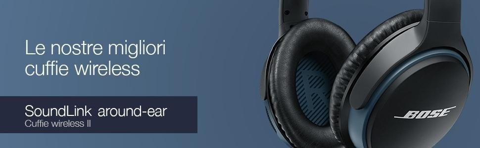 Bose SoundLink 741158 0010 Cuffie Around Ear II Wireless, Nero