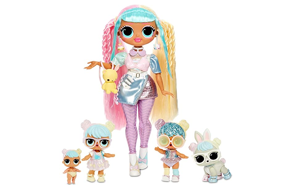 Amazon Com Lol Surprise Omg Bon Bon Family With 45 Surprises Including Candylicious Omg Doll Bon Bon Bling Bon Bon Lil Bon Bon Hop Hop Accessories And Foldable Playset Kids 36 Months