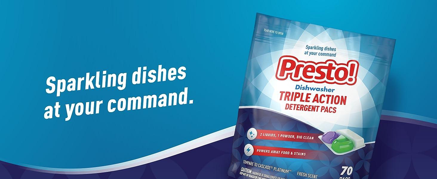 Presto, Presto!, Amazon, dish detergent, dishwasher detergent, dish pacs, dish cleaning agent