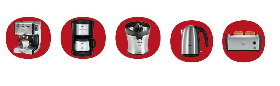 Ufesa CG7232 Avantis Optima - Cafetera de goteo, 800 W, 10 Tazas, Jarra de Vidrio especial Aroma, Filtro Permanente: Amazon.es: Hogar