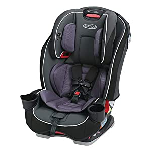 Graco SlimFit 3 in 1 Convertible Car Seat | Infant to Toddler Car Seat, Saves Space in your Back Seat, Darcie 1