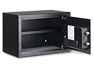Amazon Basics steel safe for home use