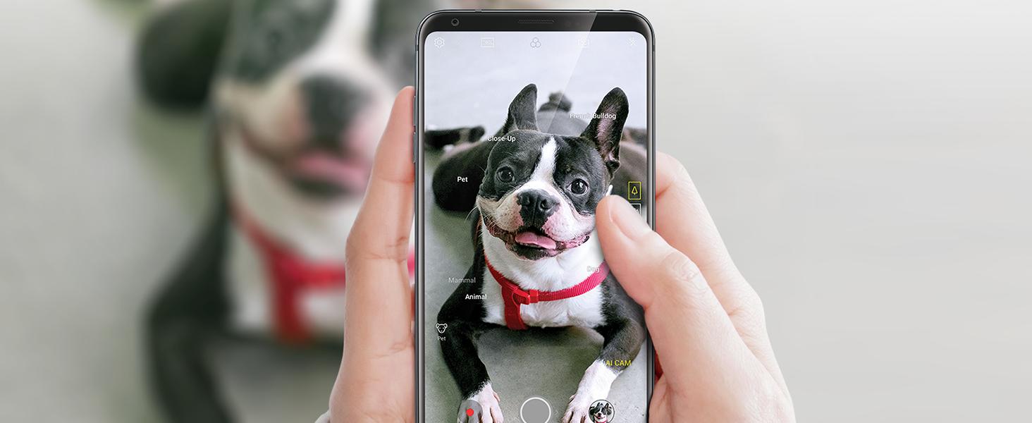 LG V35 ThinQ with Alexa Hands-Free – Prime Exclusive Phone – Unlocked – 64  GB – Aurora Black