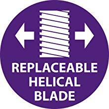 Replaceable Helical Blade
