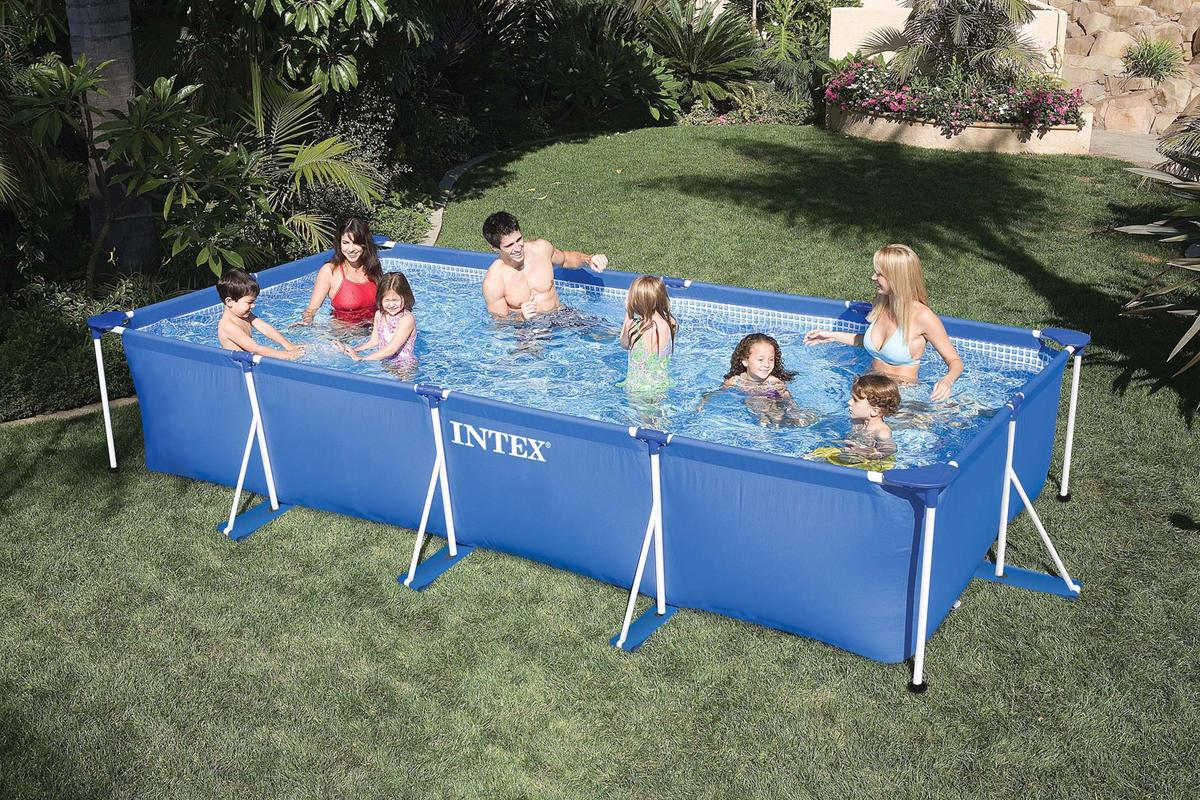intex 58982 piscina fuoriterra rettangolare 450 x 220 x