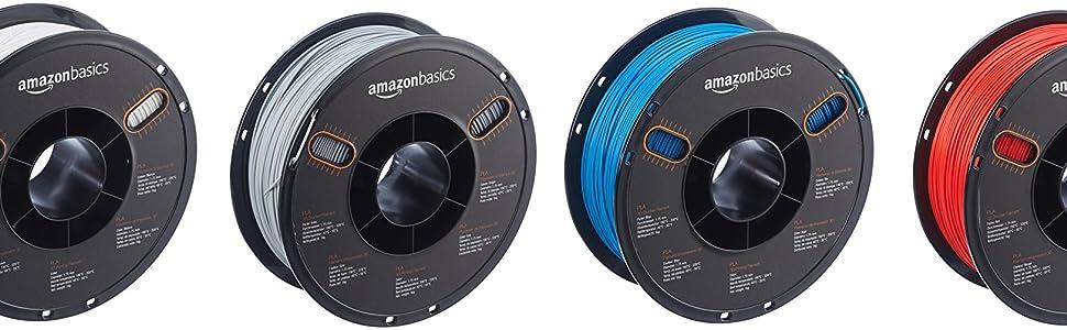 AmazonBasics – Filamento de PETG para impresora 3D, 1,75 mm, Azul ...