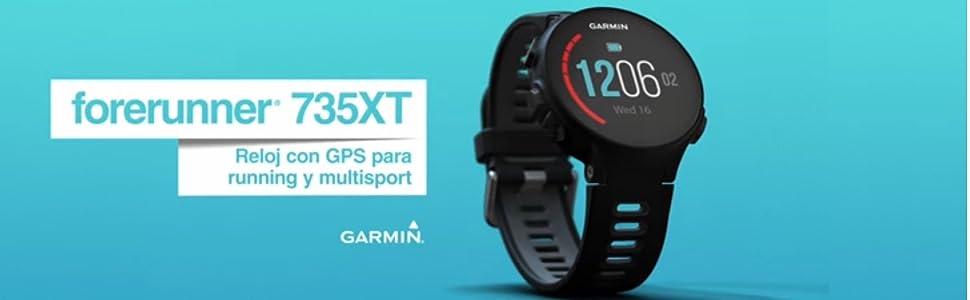 Garmin Forerunner 735XT Reloj Multisport, Unisex Adulto, Turquesa y Azul, M (Reacondicionado): Amazon.es: Electrónica