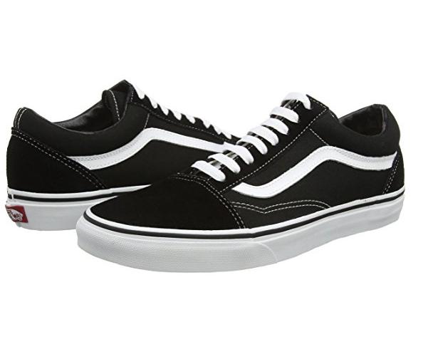 vans old skool leather sneaker unisex adulto nero black/white