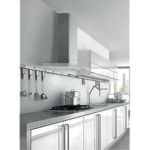 Mepamsa Stilo Plus 90 Campana aspirante decorativa de pared de inox, 56 W, 66 Decibelios, 3 Velocidades, Aluminio: 202.32: Amazon.es: Grandes electrodomésticos