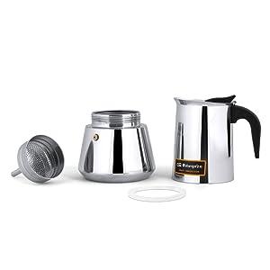 Cafetera italiana inox ORBEGOZO KFI960 | ORBEGOZO 9 tazas ...