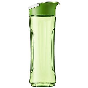 AmazonBasics - Botella de repuesto para Mix & Go, 600 ml, color verde, pack de 1