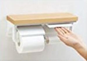棚付2連紙巻器