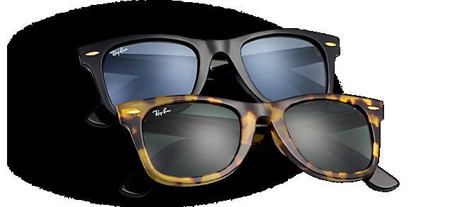 Ray Ban Wayfarer, Gafas de Sol Polarizado Unisex, Marrón (brown leather), 50