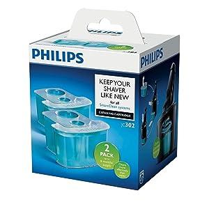 Philips JC302/50 - Cartuchos de limpieza con sistema de filtro dual y lubricacion activa, refrescantes, 2 unidades: Amazon.es: Salud y cuidado personal