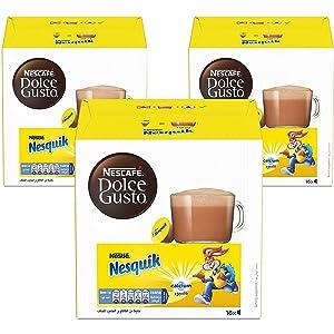 كبسولات مشروب الشوكولاتة نسكويك من نسكافية دولتشي غوستو 48 كبسولة لعمل 48 كوب Amazon Ae
