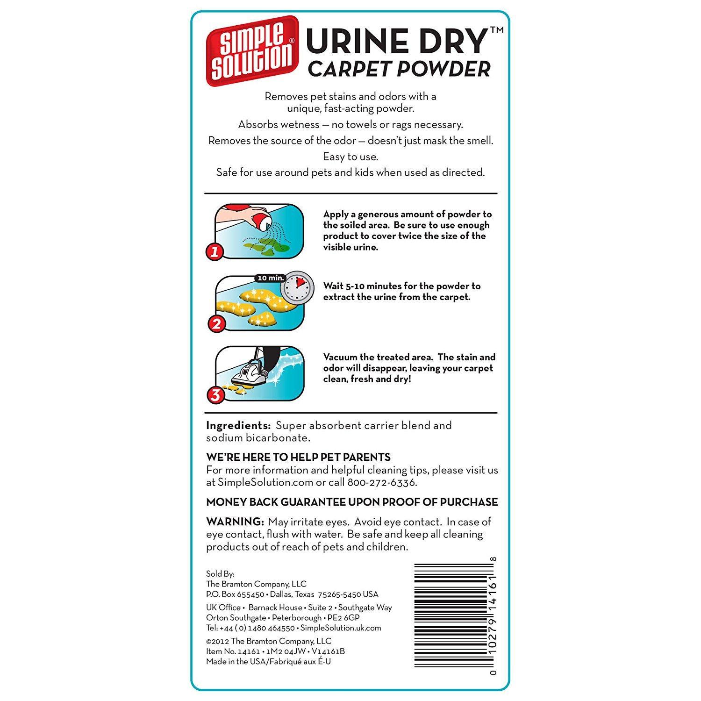 Simple Solution Urine Dry Carpet Powder - 680g: Amazon.co ...