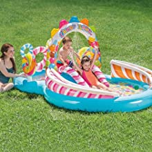 Intex 57149NP - Centro de juegos hinchable Candy Zone 295 x 191 x 130 cm