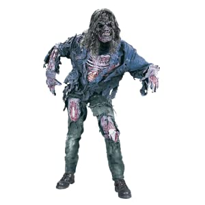Amazon Com Funworld Men S Complete 3d Zombie Costume Grey One Size Clothing Person's hand coming out from the ground, zombie youtube grave hand, zombie, zombie apocalypse, fantasy, cadaver png. fun world men s complete 3d zombie costume