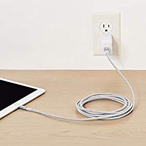 AmazonBasics Apple Certified Double USB A Cable with Lightning Connector - 3-Foot, Rose Gold