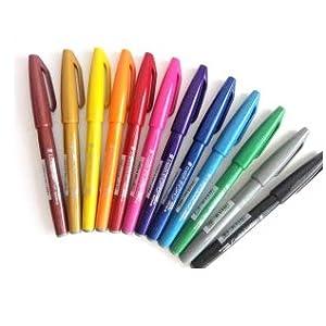 /Set di 12/penne roller a inchiostro gel Lotto da 2 oro//argento Pentel/