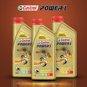 Castrol Power1 Cruise 4T 15W-50 Petrol Engine Oil for Bikes