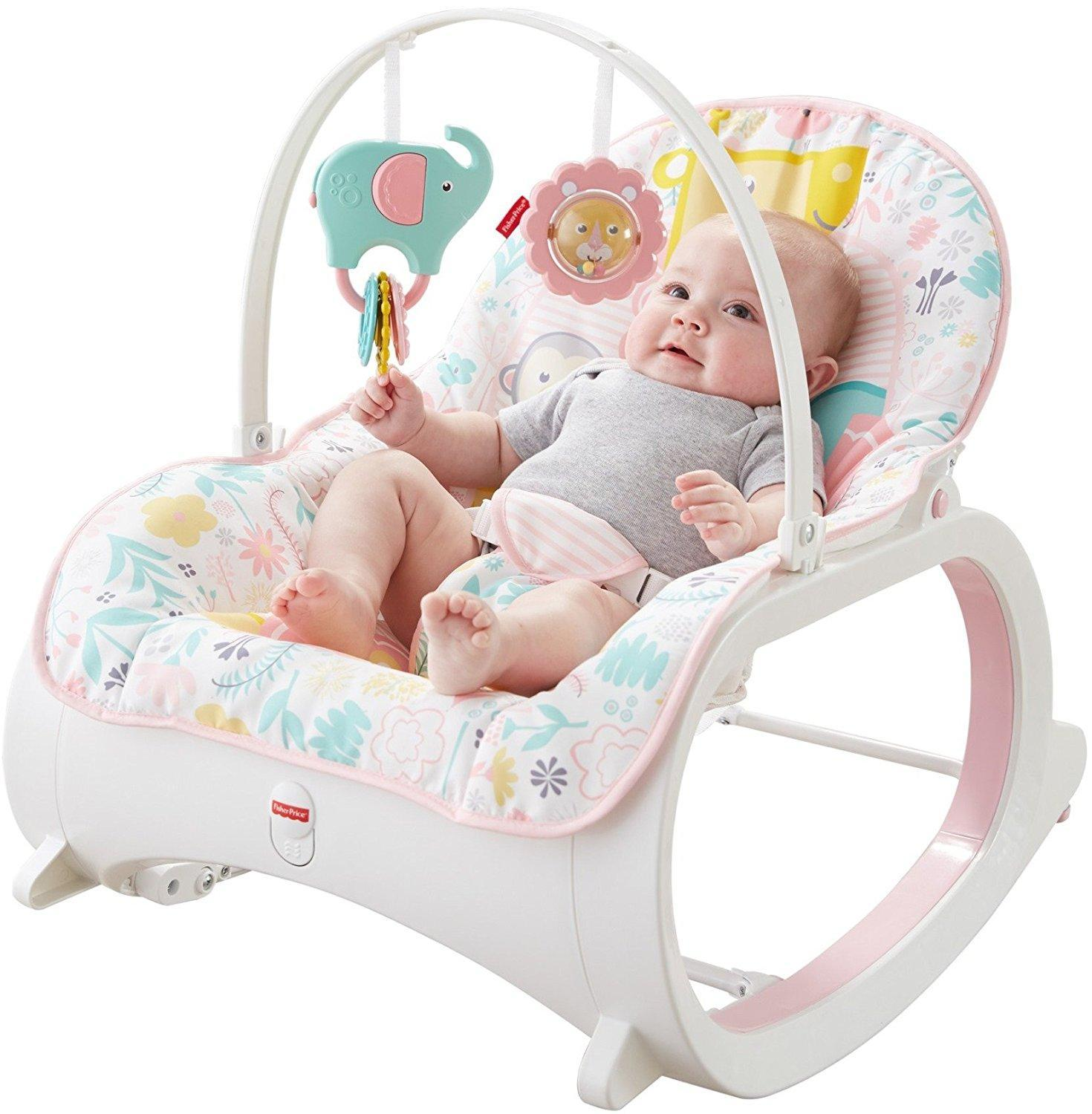 Amazon.com : Fisher-Price Infant-to-Toddler Rocker, Pink