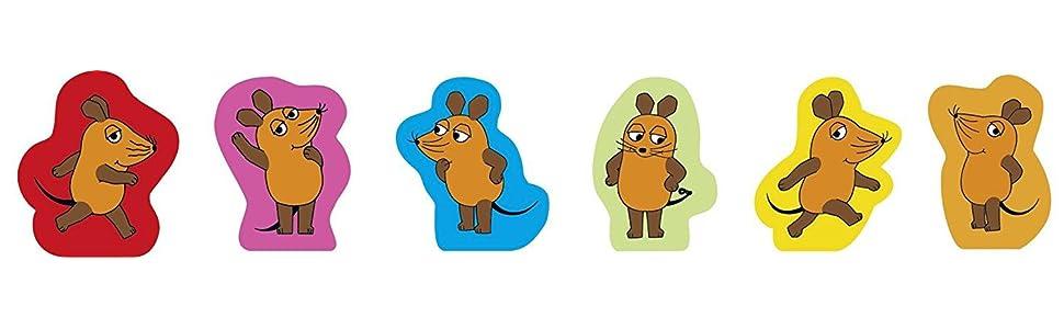 Schmidt Spiele 40505 Die Maus, Mausefalle, Kinderspiel, bunt