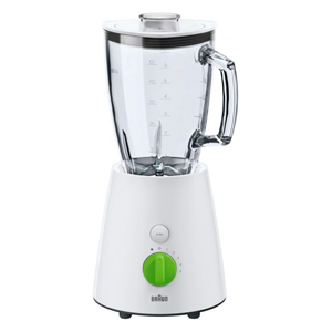 Braun JB3060 Tributecollection 800-Watt Glass Jar Blender 220-Volt, White