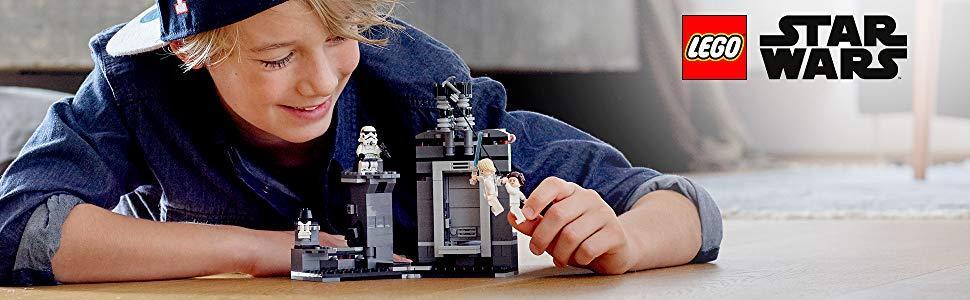 LEGO STAR WARS DEATH STAR ESCAPE STORMTROOPER W// GREY SQUARES 2019 75229 NEW