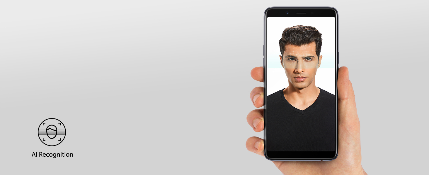 The AI CPU identifies your face in 0.1s. Just a look at the screen and your phone will unlock.