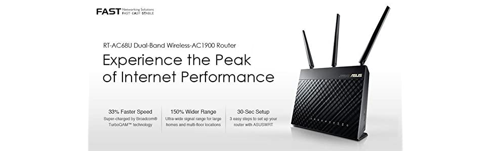 ASUS RT-AC68U AC1900 Dual-Band Gigabit Wireless Router - Great product, but  ultimately ended up returning it due to lacking dual wan stability