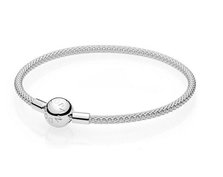 Pandora 596543 Bracciale da donna con maglia Mesh, 19 cm