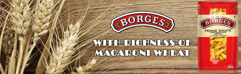 Borges Penne Rigate Durum Wheat Pasta