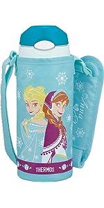 真空断熱 ストローボトル ディズニー アナと雪の女王
