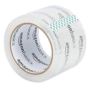 Basics Ruban adh/ésif d/'emballage pour d/ém/énagement et stockage haute transparence lot de 6 4,77 cm de large x 49,9 m de long