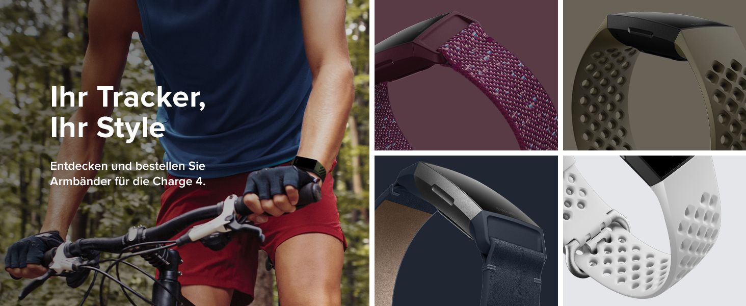 Schwimmtracking /& bis zu 7 Tage Akkulaufzeit Fitness-Tracker Fitbit Charge 4 mit GPS Palisander