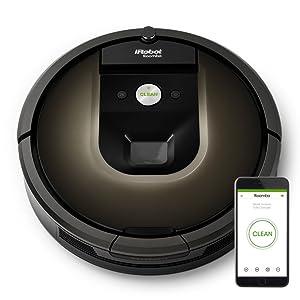 iRobot Roomba 980 Sin bolsa Negro aspiradora robotizada - aspiradoras robotizadas (Sin bolsa, Negro, Chocolate, Alfombra, Cámara, 120 min, 2 h): Irobot: Amazon.es: Informática