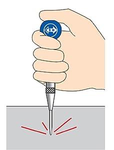シンワ測定 オートポンチ 転がり防止グリップ付き
