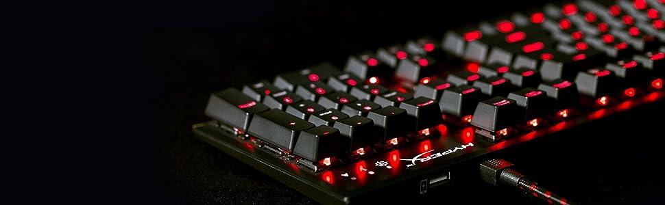 HyperX Alloy FPS Pro, Teclado Mecánico de Gaming, USB, Multicolor (Cherry Blue)