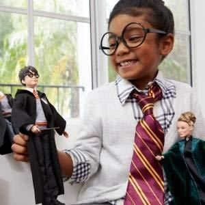 Harry Potter Collectible Doll (10.5-in) with Hogwarts uniform, Gryffindor Robe and Wand