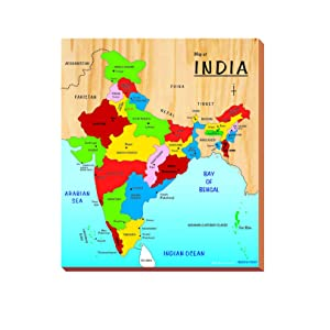 India Map With All States.Buy Kinder Creative India Map Brown Online At Low Prices In India