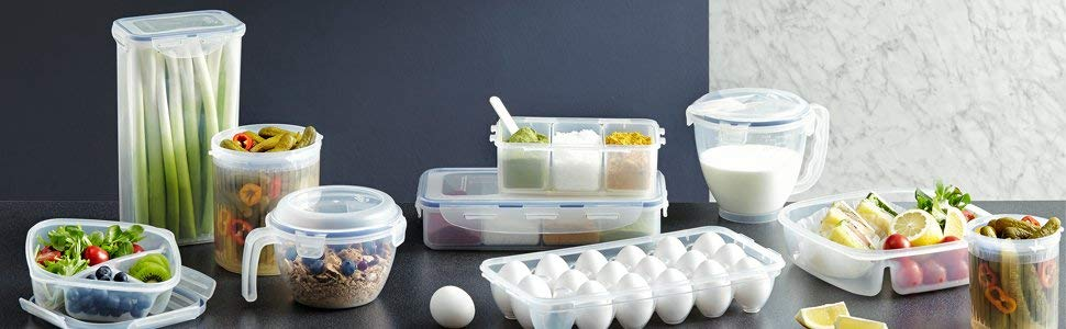 LOCK & LOCK GLASS, Borosilicate Glass, Oven Safe, BPA Free, 100% Airtight, Glass Container with Lid