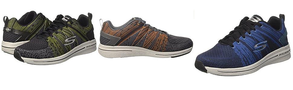 -éclatement 2,0 Skechers Dans Le Mélange Ii, Chaussures Pour Hommes, Noir (bklm), 40 Eu